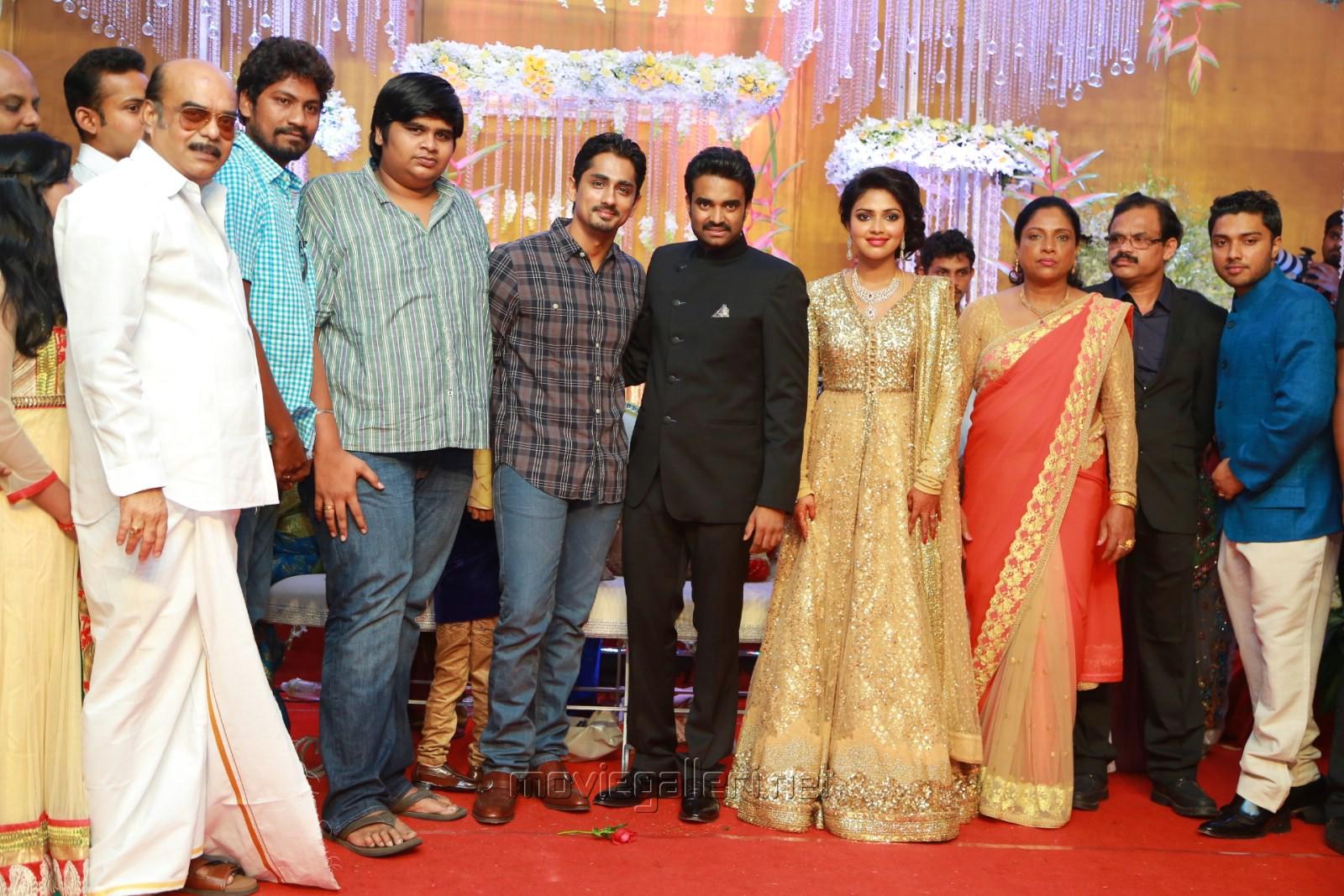 siddharth actress amala paul director vijay wedding reception stills