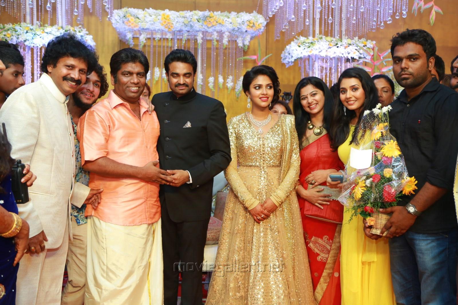 harris jayaraj actress amala paul director vijay wedding reception