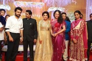Karthi, Shobana @ Actress Amala Paul Director Vijay Wedding Reception Stills