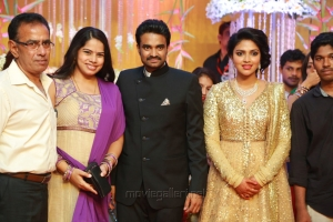 Deepa Venkat @ Actress Amala Paul Director Vijay Wedding Reception Stills
