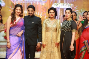 Lakshmi Rai, sister Ashwini Rai @ Actress Amala Paul Director Vijay Wedding Reception Stills