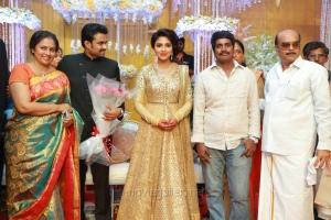 Lakshmi Ramakrishnan, Kannan @ Actress Amala Paul Director Vijay Wedding Reception Stills