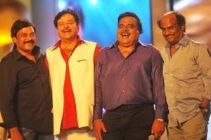Rajini,Chiranjeevi,Shatrughan Sinha at Ambarish Birthday Celebration 2012