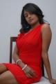 Telugu Actress Amitha Rao in Red Dress Hot Photos