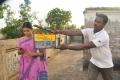 Actress Iniya at Ammavin Kaippesi Shooting Spot Stills