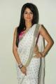 Telugu Actress Amrutha Hot in White Saree Pics