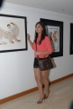Bhanu Sree Mehra at Anandapriya Foundation Paint Exhibition in Muse Art Gallery