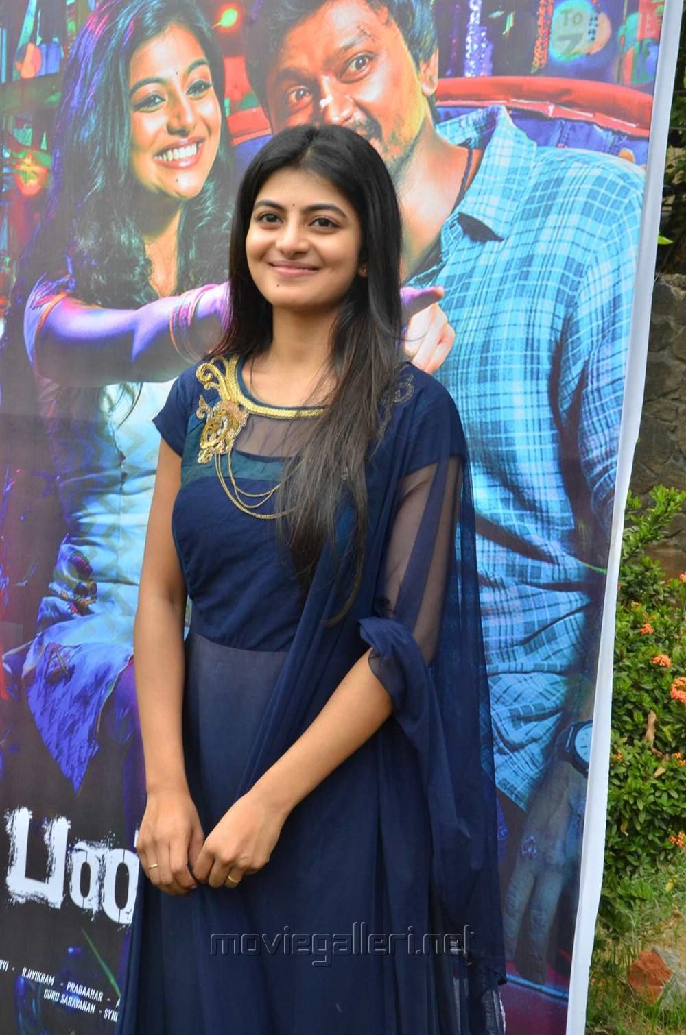 Actress Anandhi Cute Stills @ Pandigai Press Meet