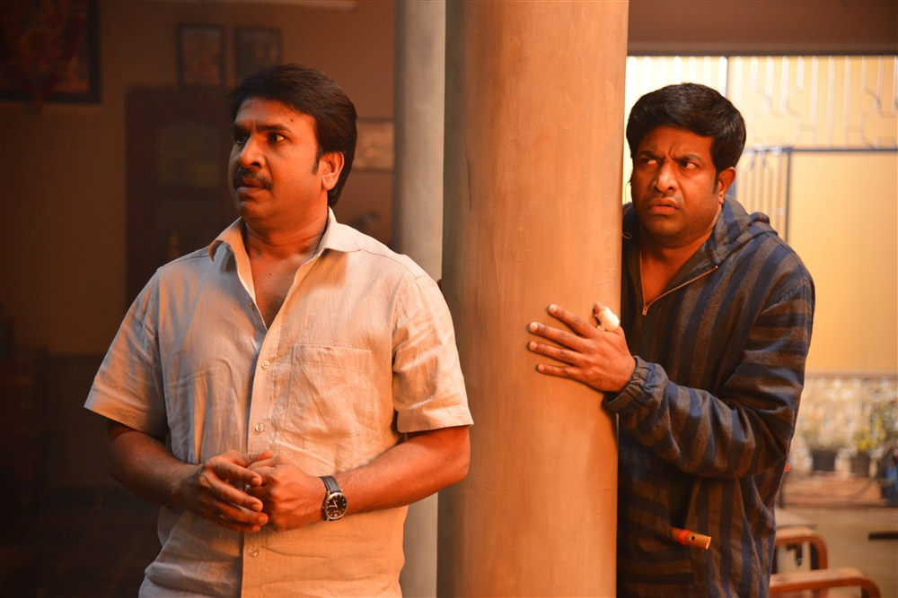 Srinivas Reddy, Vennala Kishore @ Anando Brahma Working Photos