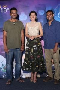 Vijay Chilla, Taapsee Pannu, Mahi V Raghav @ Anando Brahma Movie Trailer Launch Stills