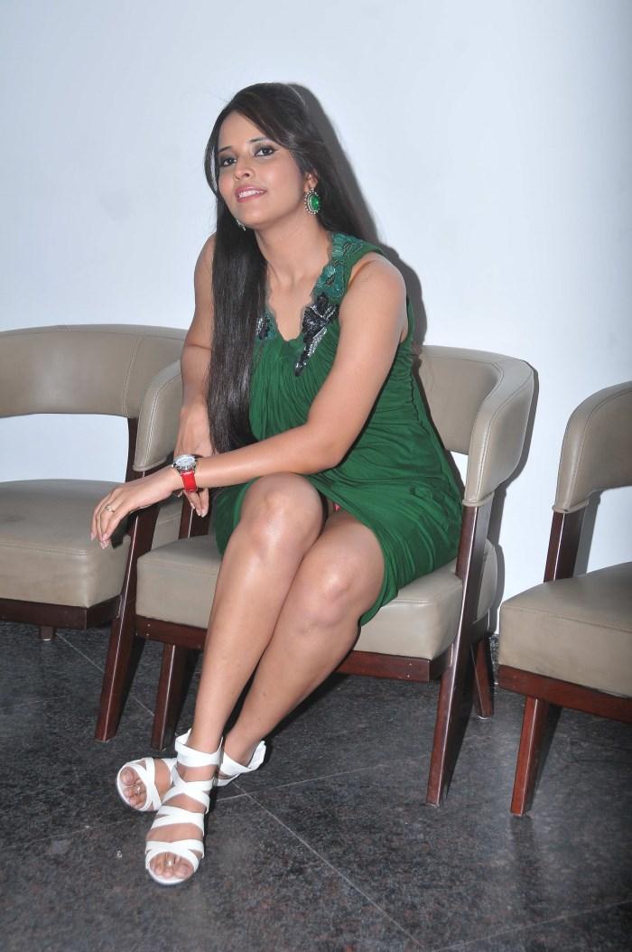 Telugu TV Anchor Anasuya Hot Photos at Om 3D Audio Release [ Gallery ...