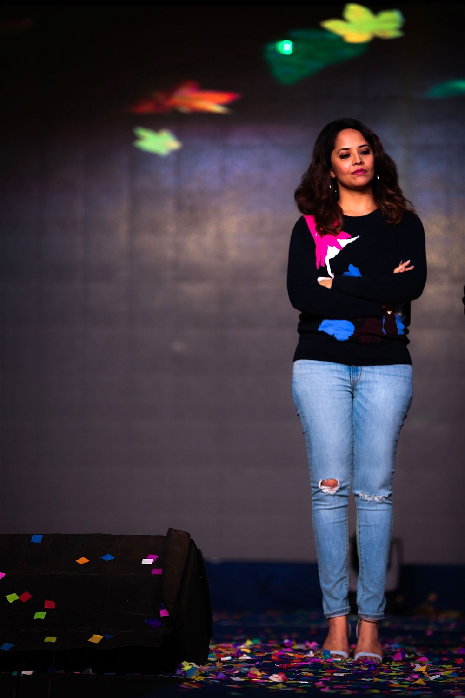 Actress Anasuya Photos @ Meeku Matrame Chepta Trailer Launch