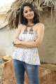 Anasuya Bharadwaj wearing Tribal Hasli at Rangasthalam Movie Village Sets