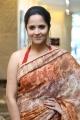 Actress Anasuya Saree Photos @ Rangasthalam Thank You Meet