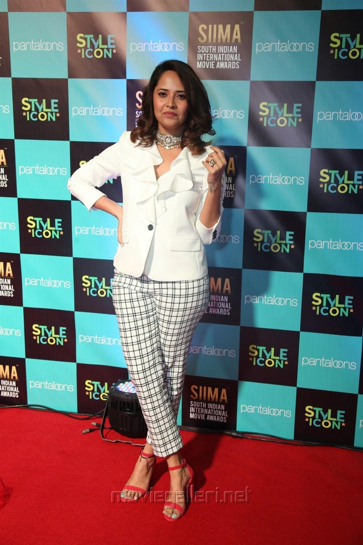 Actress Anasuya Cute Smile Photos @ SIIMA Awards 2019 Day 1
