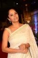 Actress Anasuya in White Saree Images @ Zee Cine Awards Telugu 2018 Red Carpet
