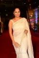 Actress Anasuya Images in White Saree @ Zee Cine Awards Telugu 2018 Red Carpet