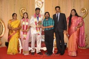 T.Rajendar @ Anbalaya Prabhakaran Son Wedding Reception