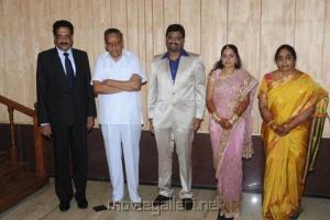 AVM Saravanan @ Anbalaya Prabhakaran Son Wedding Reception