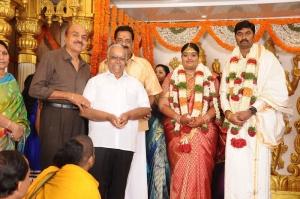 RB Choudary, Pyramid Natarajan @ Anbalaya Prabhakaran's Daughter Wedding Pictures