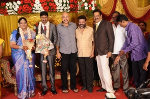 Sathyaraj, P.Vasu @ Anbalaya Prabhakaran's Daughter Wedding Pictures