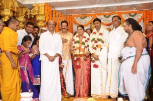 Rajinikanth @ Anbalaya Prabhakaran's Daughter Wedding Pictures