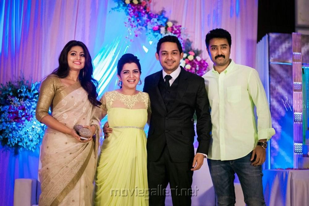 Sneha And Prasanna At Dd Marriage Reception Veethi