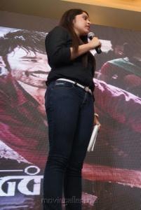Vijay TV Anchor Ramya Photos in Black Shirt & Blue Jeans