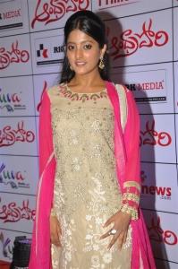 Actress Ulka Gupta @ Andhra Pori Premiere Show @ Prasads IMAX Hyderabad