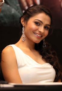 Andrea Jeremiah Latest Hot Pictures at Vishwaroop Mumbai Press Meet