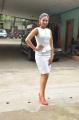 Actress Andrea Hot White Skirt Dress Pics @ Taramani Success Meet