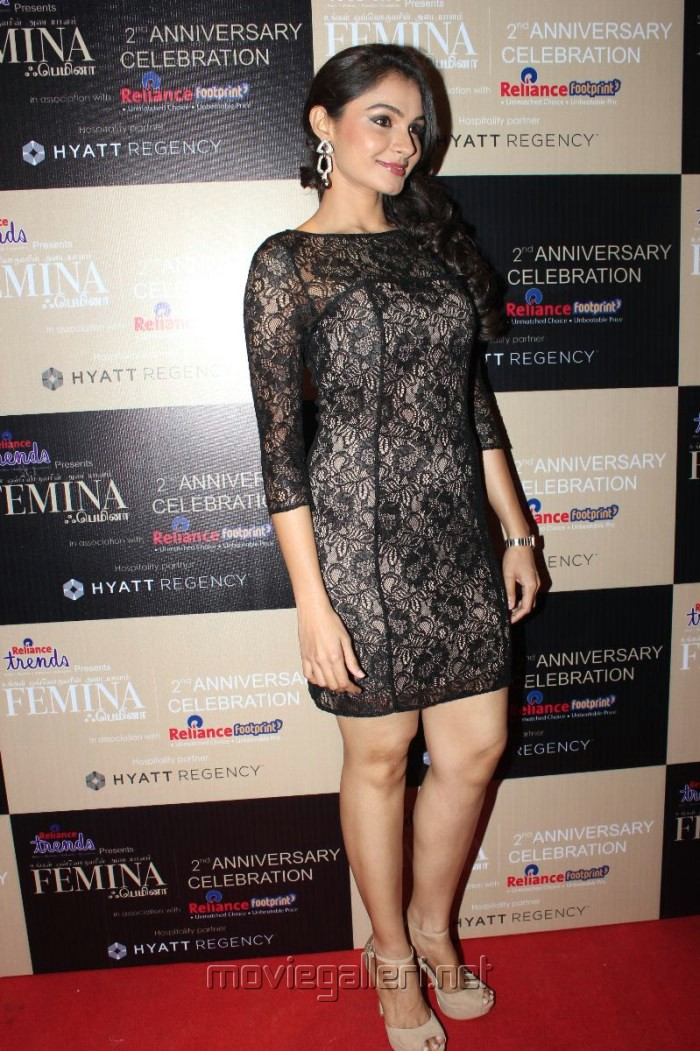 Actress Andrea Jeremiah in Mini Black Skirt Hot Images