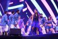Actress Andrea Jeremiah Pics @ Bharat Ane Nenu Audio Release