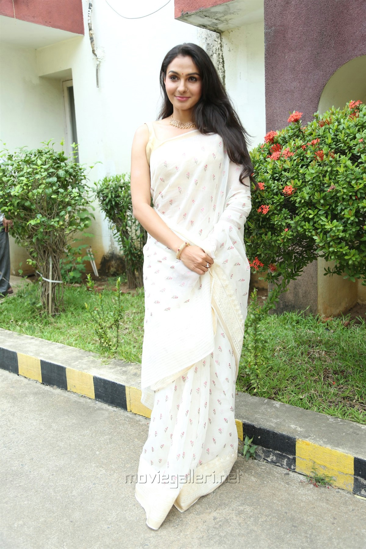 Vada Chennai Actress Andrea Jeremiah White Saree Photos HD