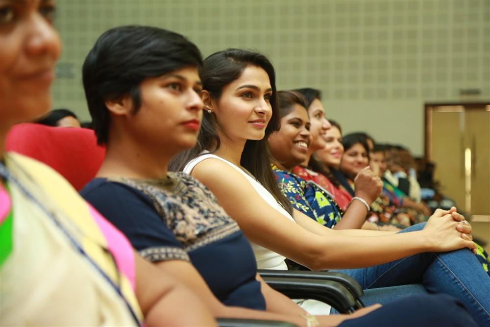 Actress Andrea Jeremiah @ Women's Day Celebrations Jeppiaar Engineering College