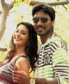 Amyra Dastur, Dhanush At Anegan Movie Stills