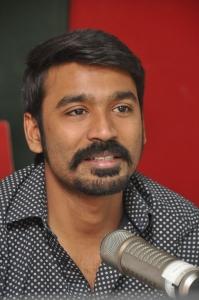 Actor Dhanush at Radio Mirchi for Anekudu Promotions