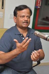 Director KV Anand at Radio Mirchi for Anekudu Promotions