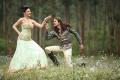 Amyra Dastur, Dhanush in Anekudu Telugu Movie Stills