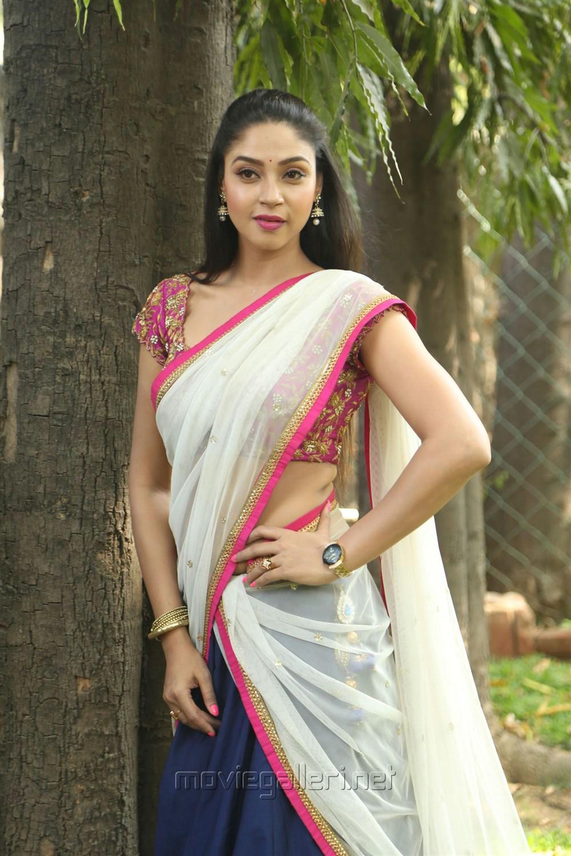Tamil Actress Angana Roy in Half Saree Stills