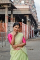 Tamil Actress Anicka Vikhraman Saree Photoshoot Stills