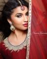 Actress Anicka Vikhraman Cute Saree Photoshoot Stills