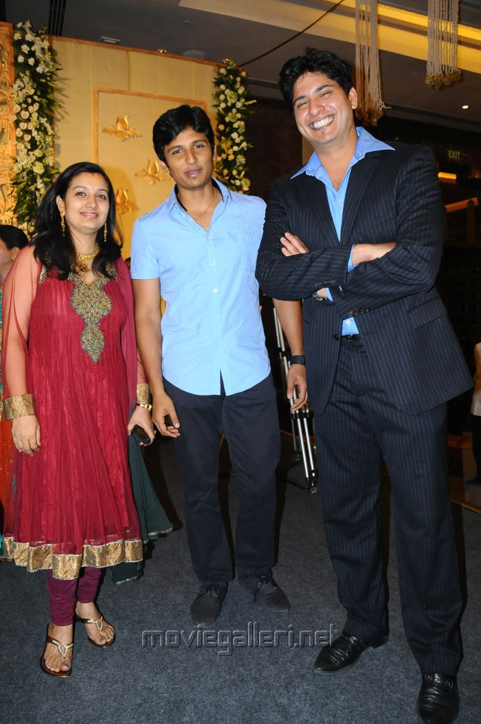 Jeeva with His Wife Supriya @ Anirudha Srikanth Wedding Reception Stills