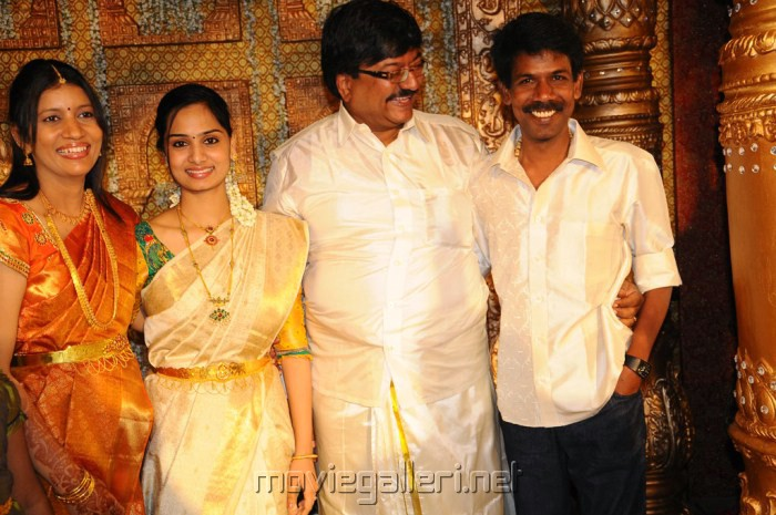Director Bala With Wife Anirudha Srikanth Wedding Reception Stills