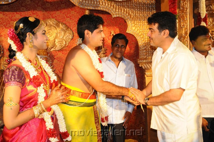 Actor Ajith At Anirudha Srikanth Wedding Reception Stills