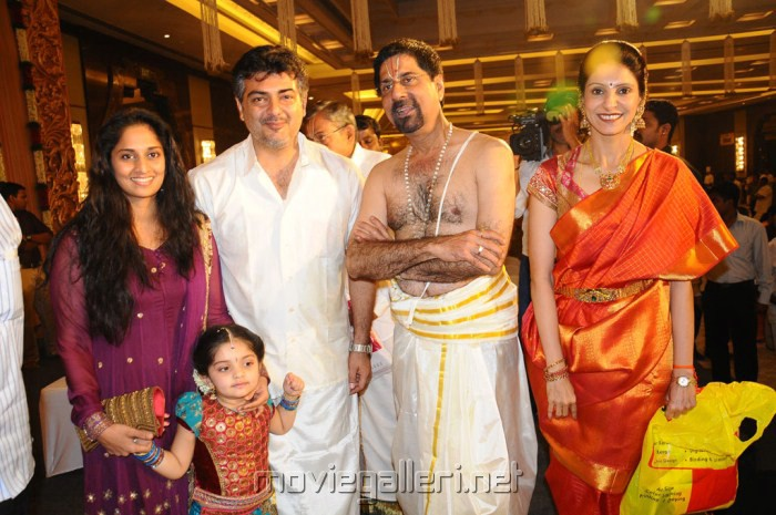 Ajith Shalini Anoushka Photos Anirudha Srikanth Wedding Reception