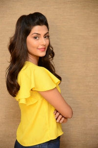 Actress Anisha Ambrose Pics in Yellow Top & Tight Blue Jeans Dress