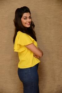Actress Anisha Ambrose Pics in Yellow Dress