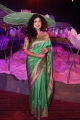 Actress Anjala Zaveri Green Saree Pics