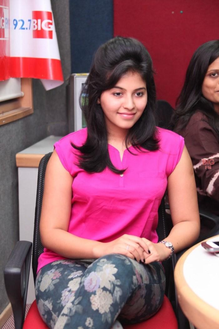 Actress Anjali at 92.7 BIG FM for Masala Promotions Photos